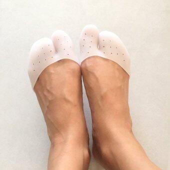 ซิลิโคนครอบปลายนิ้วเท้า (สีขาว) 1 คู่