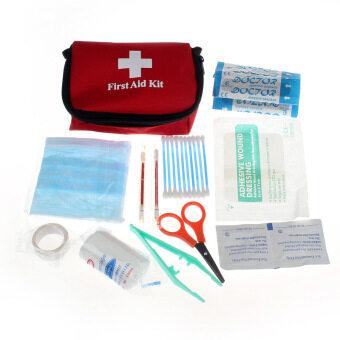 การปฐมพยาบาลฉุกเฉินชุดท่องเที่ยวรอดเอากระเป๋ากีฬาบ้านหมอ (สีแดง)
