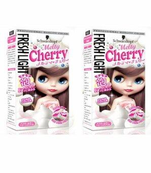 Schwarzkopf Freshlight Foam color Melty cherry 95ml สีน้ำตาลประกายชมพู ให้ประกายสีสว่างปานกลางระดับ 4 จำนวน 2 กล่อง