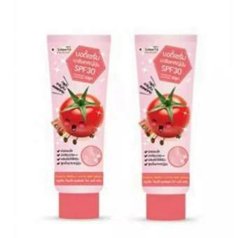 แพคคู่ Smooto Tomato Perfect White Body Serum SPF30 100 ml .