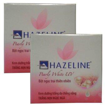 Hazeline Whitening Cream Pearly White UV ครีมบำรุงผิวหน้าอุดมไปด้วยคุณค่าสารสกัดจากไข่มุกธรรมชาติให้ผิวขาวกระจ่างใสเปล่งประกายดุจไข่มุก ปกป้องผิวจากแสงแดด พร้อมเติมความชุ่มชื่นให้กับผิว เนียนนุ่ม ขาวกระจ่างใส 45g (2 กล่อง)