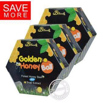 B'Secret Golden Honey Ball มาส์กหน้า มาส์กลูกผึ้ง บี ซีเคร็ท B Secret บีซีเคร็ท มาร์คหน้า มาร์คลูกผึ้ง (3 กล่อง)