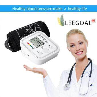 Leegoal อัตโนมัติจอมอนิเตอร์แบบ Lcd และแขนเต้นความดันเลือดบ้าน Sphgmomanometer (ขาว)