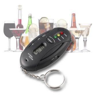 Elit เครื่องวัดแอลกอฮอล์ แบบพวงกุญแจ พร้อมนาฬิกาจับเวลา Breath Alcohol Tester (Black)