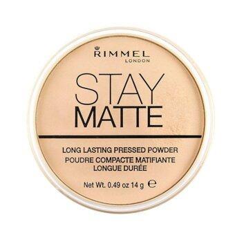 Rimmel Stay Matte Pressed Powder เนื้อบางเบา สูตรควบคุมความมัน #001Transparent 14g (1 ตลับ)