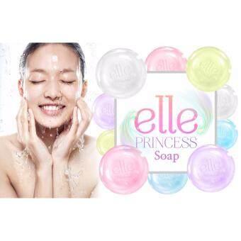 Elle Princess Amino Acid Soap ph 5.5 ก้อนสีชมพู สเต็มเซลล์กุหลาบ (40 g.) (กล่องสีส้ม)