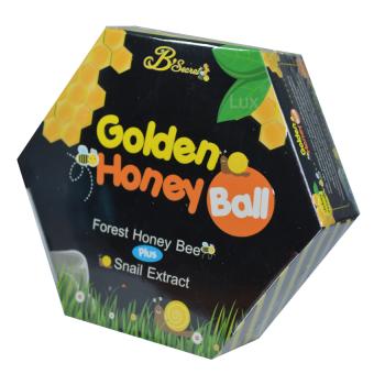 B'Secret Golden Honey Ball มาส์กลูกผึ้ง บี ซีเคร็ท กลิ้งแล้วหนืด ยืดแล้วมาส์ก เพื่อผิวสะอาดเนียนใส ชุ่มชื้น บรรจุกล่องละ 4 ลูก (1 กล่อง)