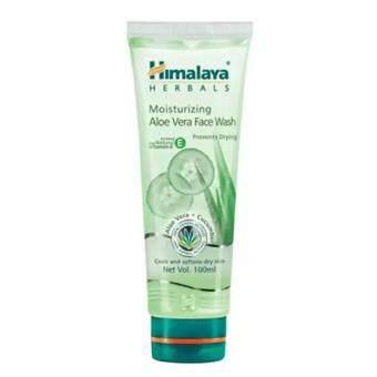 Himalaya Aloe vera Face Wash 100ml.เจลล้างหน้าสำหรับผิวแห้ง (1หลอด)