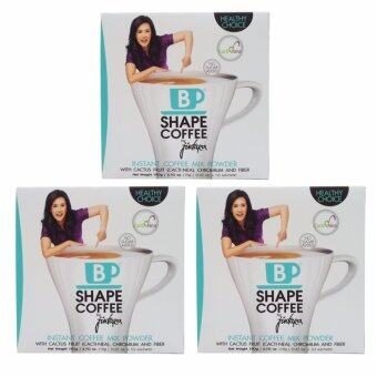 B Shape Coffee ผลิตภัณฑ์กาแฟปรุงสำเร็จชนิดผง by จินตรา (3 กล่อง) แถม กล่องดินสอสี มูลค่า 99บาท