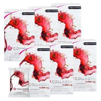 Donut Collagen 10000 mg. Cherry โดนัท คอลลาเจน กลิ่นเชอร์รี่ (10 ซอง x 6 กล่อง)