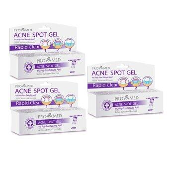 Provamed Acne Spot Gel เจลแต้มสิว (T-Zone) 10g x 3 กล่อง
