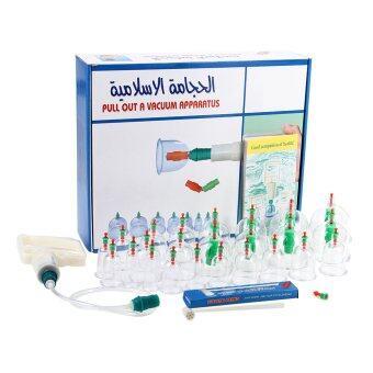 ชุดป้อง 24 ถ้วยดูดสุญญากาศการแพทย์ดูแลสุขภาพร่างกายด้วยเข็มแม่เหล็ก