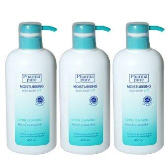 Phamapure Moisturising Body Wash pH5 450ml. (3ขวด)