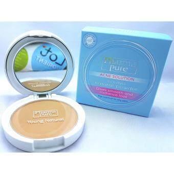 PharmaPure Acne Solution Young Natural Powder (ปรับแพ็คเกจใหม่) แป้งป้องกันสิว ป้องกันการแพ้ (1 ตลับ)