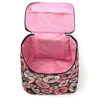 ดอกกุหลาบการออกแบบเครื่องสำอางแต่งหน้ากระเป๋ากระเป๋าเดินทางแชมพูล้างไปรษณีย์กรณีออแกไนเซอร์