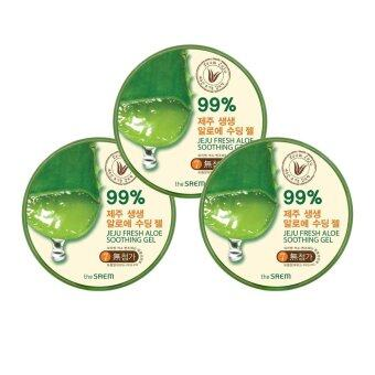 Harga The Saem Jeju Fresh Aloe Soothing Gel 99% (แพ็ค 3 กระปุก)