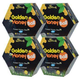 B'Secret มาส์กลูกผึ้ง B'secret Golden Honey Ball สบู่กึ่งมาส์กดีท็อกซ์ผิว (4 กล่อง)