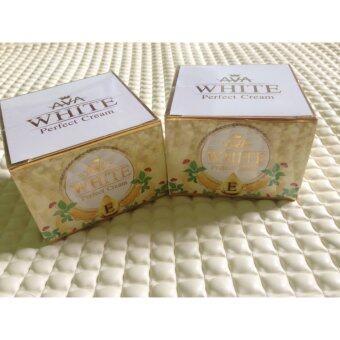 ครีมโสมแก้มแดงAVA White Perfect Cream สูตรใหม่ เพิ่มคอลลาเจนและวิตามิน E 50g (2 กระปุก)