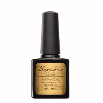 Sapphire Top Coat ท็อปโค้ท เล็บสีเจล Soak Off Gel 7.3ml