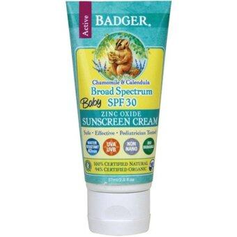 Badger Company Baby Sunscreen Cream Broad Spectrum SPF 30 Chamomile & Calendula (87 ml) ครีมกันแดดคาโมไมล์
