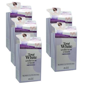 Malissa K.I.S.S Total White Underarm Cream มอยส์เจอไรเซอร์บำรุงใต้วงแขน ขนาด 30 ml. (5 กล่อง)