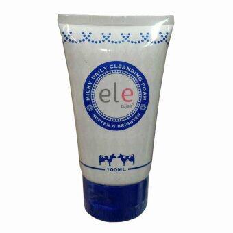 ele milk daily cleansing foam ผิวดูกระจ่างใสอย่างเป็นธรรมชาติ 100ml (1 หลอด)
