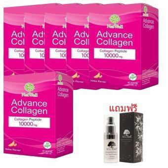 Advance collagen10000mg (10 sachet) 6 กล่อง แถมฟรี It's tree Absolutely health skin serum 15 grams (1ชิ้น) (pink)