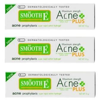 Smooth E Acne Hydrogel Plus 10g (3หลอด)สมูท อี แอคเน่ ไฮโดรเจนพลัส