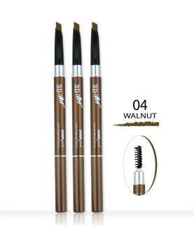 Saynow Girls 3D ART AUTO EYEBROW PENCIL ดินสอเขียนคิ้ว (0.3ml.) NO. 04 WALNUT (3 ชิ้น)