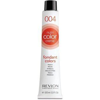 Revlon Nutri color crème ครีมเคลือบและบำรุงเส้นผมแบบหลอด เบอร์ 004 Peach สีพีช (100ml)