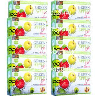 Vivi Krishy Boom Green Apple Diat บรรจุ 10 ซอง (10 กล่อง) วีวี่ คริชชี่ บูม แอลคาร์นิทีน แอปเปิ้ล พลัส อาหารเสริมควบคุมน้ำหนัก เร่งการเผาผลาญ ผิวขาวกระจ่างใส