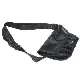 กระเป๋าใส่อุปกรณ์แต่งหน้าPVC แบบคาดเอว สีดำ