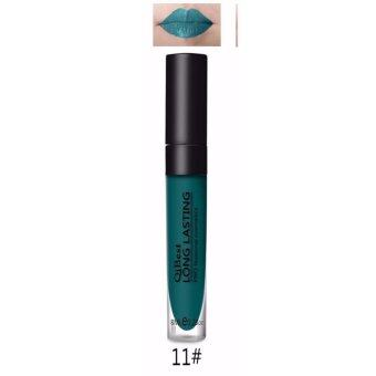 ลิปสติก แวมไพร์ ลิปกลอ สีเขียวสด สีสดใส สไตล์ Matte 11 (8 กรัม)