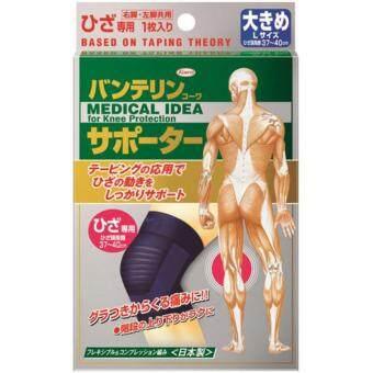 KOWA VANTELIN Supporter Knee อุปกรณ์พยุงเข่า ผ้ารัดเข่า สนับเข่า จากญี่ปุ่น/Size L 37-40 cm.- Black