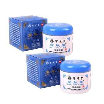 ครีมบัวหิมะ เป่าฟูหลิง Bao Fu Ling Compound Camphor Cream 100g (กล่องสีฟ้า) 2 กล่อง