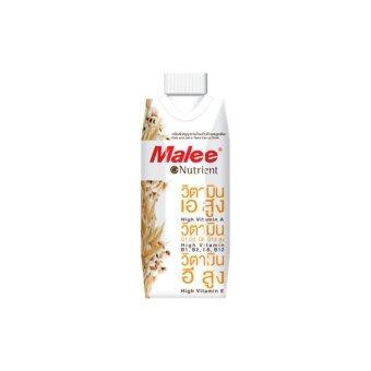 ขายยกลัง! Malee เครื่องดื่มน้ำนมข้าวโอ๊ตผสมลูกเดือย2ลัง(24กล่อง) ขนาด330ml.