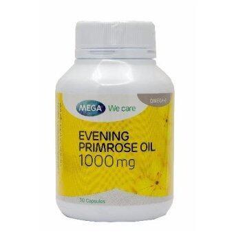 Mega Evening Primrose Oil อีฟนิ่งพริมโรส บำรุงผิวให้ชุ่มชื้น 30 แคปซูล (Yellow)