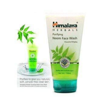 Himalaya Herbals Purifying Neem Face Wash โฟมล้างหน้าสำหรับผิวบอบบาง และเป็นสิวง่าย 150ml