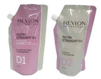 Revlon Nutri Straight D1 น้ำยายืดผมพร้อมน้ำยาโกรกผมชนิดไร้แอมโมเนียสูตรสำหรับผมอ่อนแอ