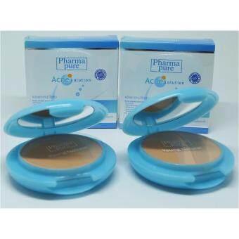 Pharma Pure Acne solution Young Natural Powder แป้งทาหน้า(แอคเน่ สกิน) ผสมสารป้องกันแสงแดด สูตรไร้สิว 2 ตลับ