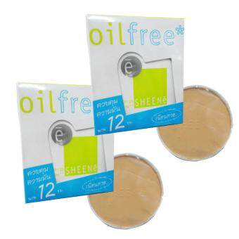 SHEENE OIL FREE CAKE SPF 25 PA++ No.C2 แป้งตลับรีฟิล (แถมรีฟิล 1 ตลับ) (แพ็คคู่)