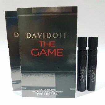 Davidoff The Game Eau De Toilette Vaporisateur Natural Spray แพ็ค 2ชิ้น น้ำหอมที่มีกลิ่นหอมแนวอะโรมาติกวู้ดดี้สำหรับผู้ชาย