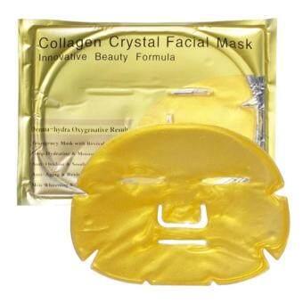 แพคคู่ แผ่นมาร์คหน้าทองคำ Collagen Crystal Facial Mask