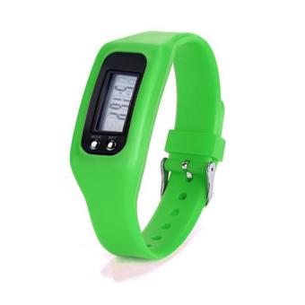 HAZU นาฬิกานับก้าวเดิน HAZU W2 วัดแคลอรี่ วัดระยะทางกิโลเมตร เครื่องนับก้าว (สีเขียวสด) DigitalLCD Pedometer Run-Step Walking Distance Calorie Counter