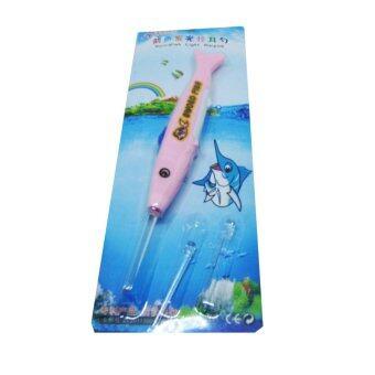 ไม้แคะหูมีไฟฉาย ป.ปลา สีชมพู LED Flashlight Earpick