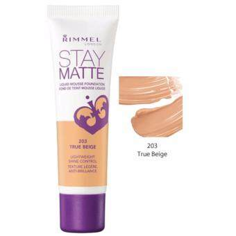 Rimmel Stay Matte Liquid Mousse Foundation 203 True Beige ขนาด 30 ml