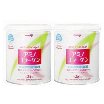 Meiji Amino Collagen เมจิ อะมิโน คอลลาเจน 5000 mg /ช้อน 200 g (2 กระป๋อง)