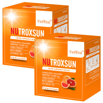 Verena NUTROXSUN นูทรอกซัน คอลลาเจน ช่วยกันแดด (10 ซอง x 2 กล่อง)