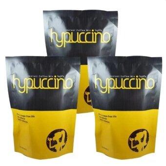 Hypuccino instant coffee mixไฮปูชิโน่ กาแฟที่หอมนุ่มรสคาปูชิโน่ 10 ซอง (3กล่อง)