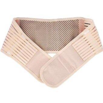 ideecraft เข็มขัดรัดกระชับเอวด้านหลัง ป้องกันเอว หลัง ช่วยผ่อนคลาย ปวดเมื่อย Lumbar waist support (สี ครีม) (L)
